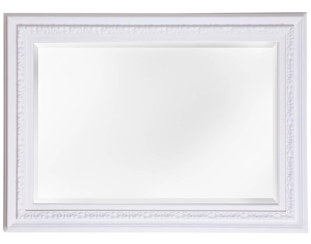 Spiegel mit einzigartigem weißem Rahmen