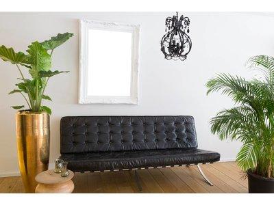 Nice - weißer Barock-Rahmen mit Ornament