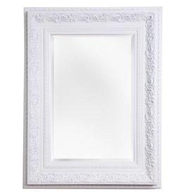 spiegel mit wei em barock rahmen mit ornament ab 99 00 inkl mwst. Black Bedroom Furniture Sets. Home Design Ideas