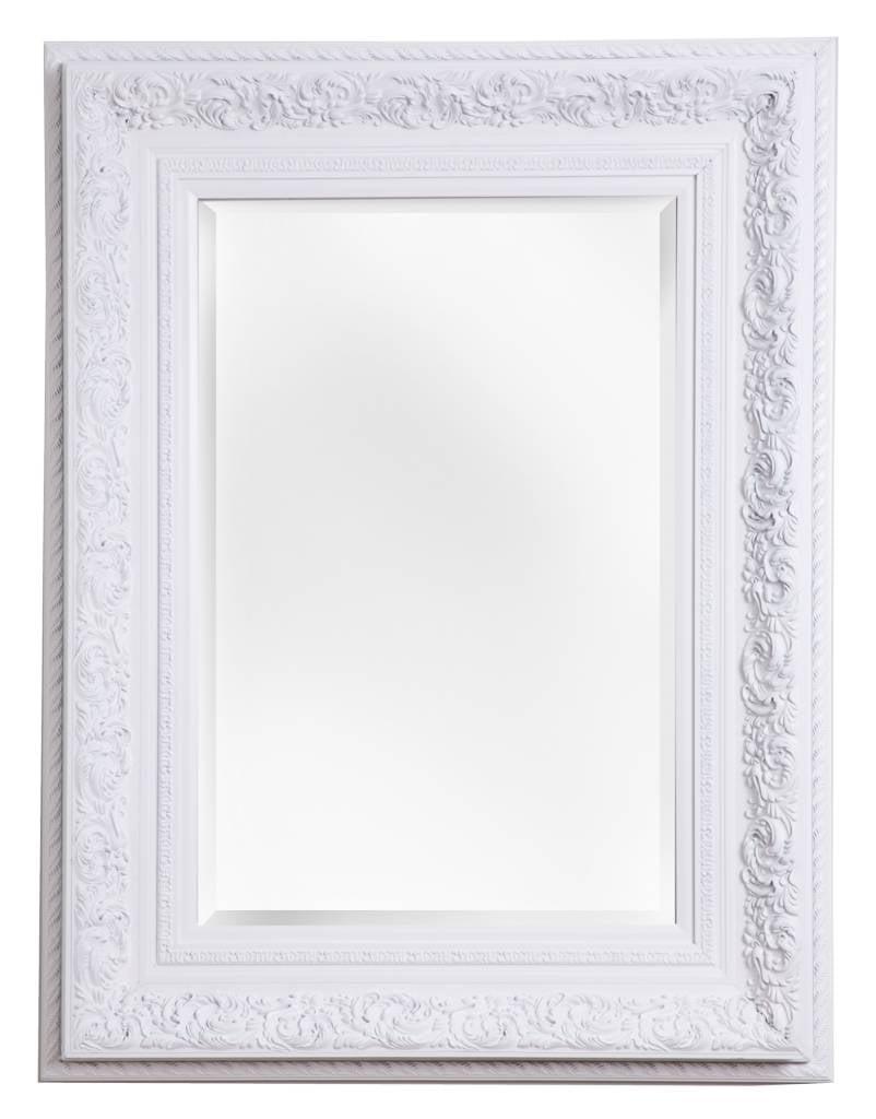 Genova - Spiegel mit weißem Barock-Rahmen - | KunstSpiegel.de