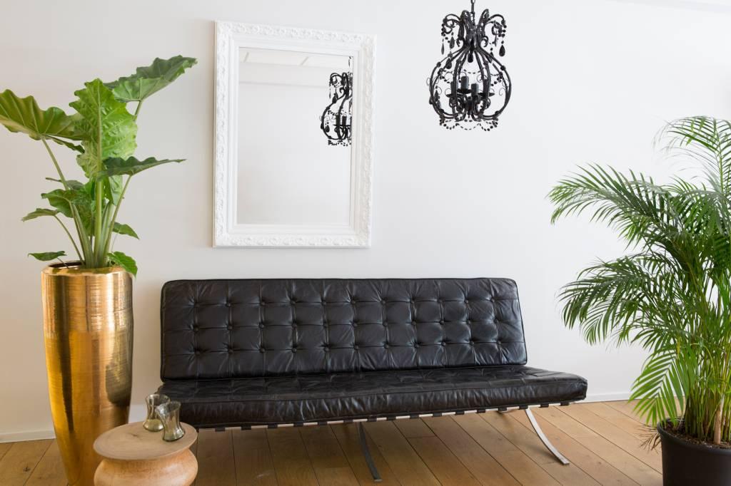 savona spiegel mit barockem wei en rahmen. Black Bedroom Furniture Sets. Home Design Ideas