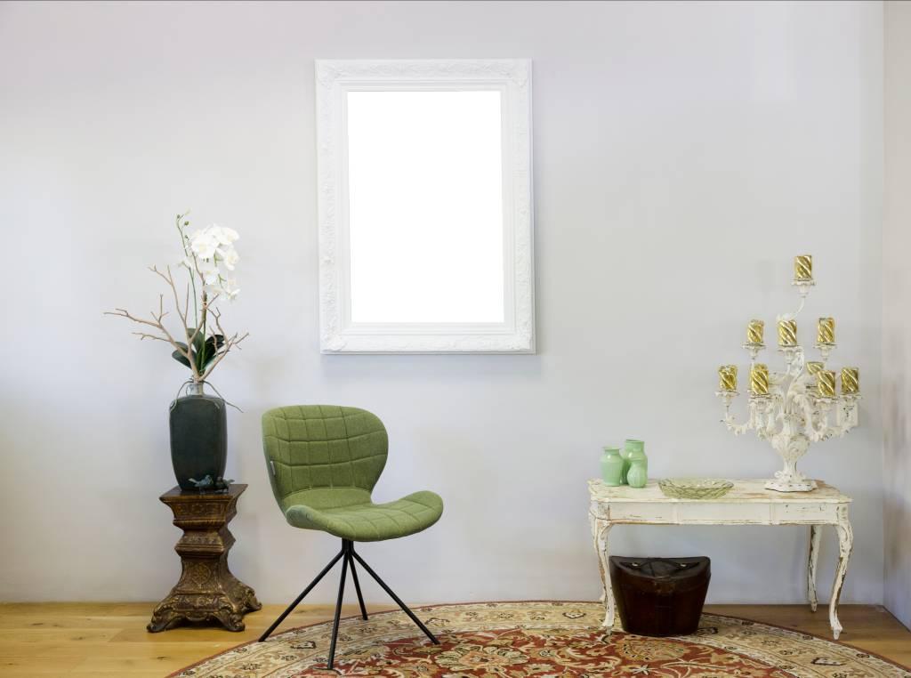 turin wei er barock rahmen aus holz. Black Bedroom Furniture Sets. Home Design Ideas
