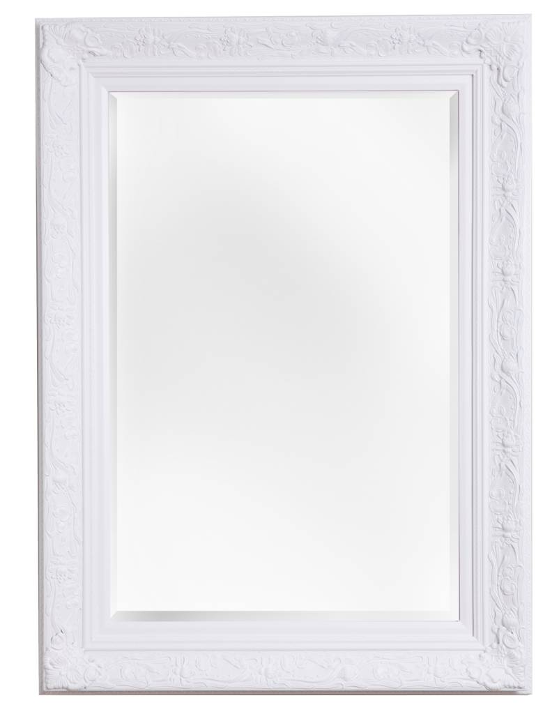 turin attraktiver spiegel mit barockem wei en rahmen. Black Bedroom Furniture Sets. Home Design Ideas