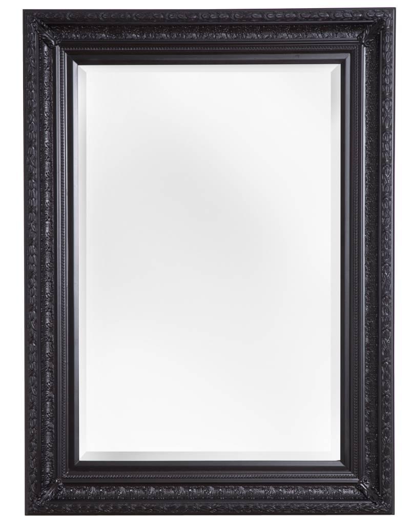Spiegel mit schwarzem Holzrahmen - | KunstSpiegel.de