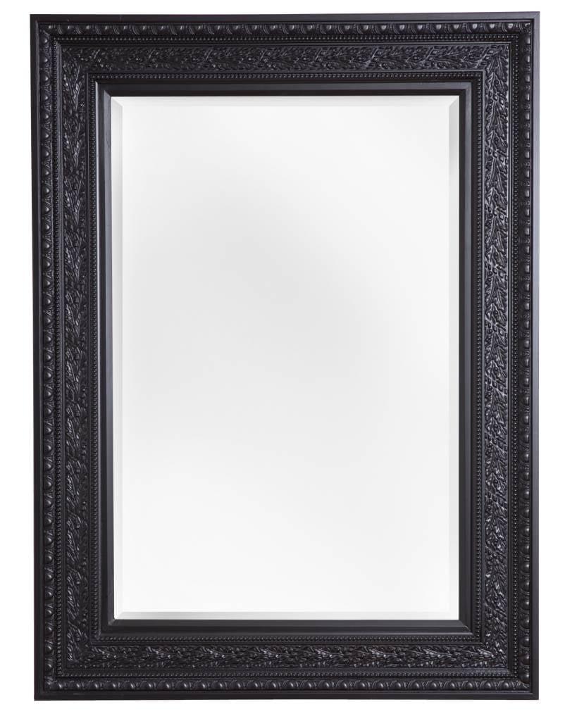 spiegel mit schwarzem rahmen. Black Bedroom Furniture Sets. Home Design Ideas