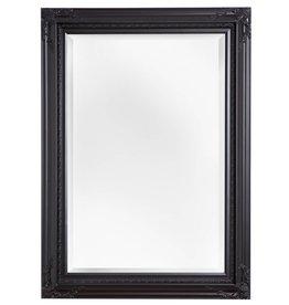 Naples - Spiegel mit schwarzem Rahmen mit Ecken Ornamenten