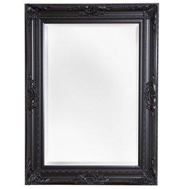 Nice - Atmosphäre schaffender Spiegel mit schwarzem Barock-Rahmen