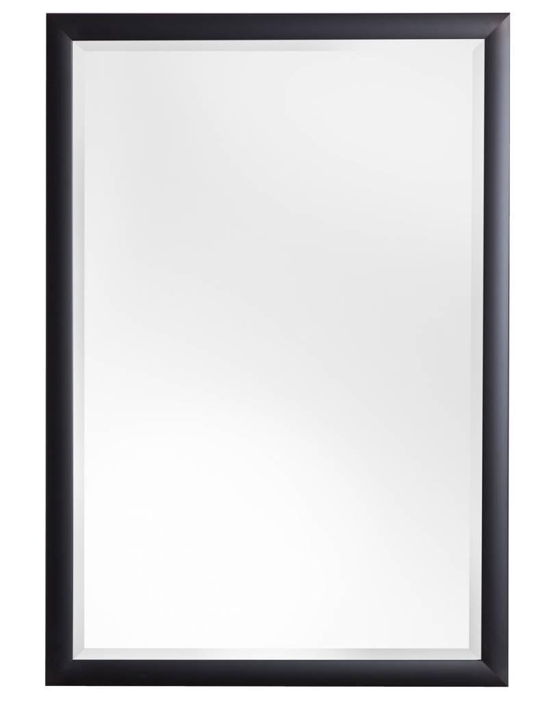 Frascati Spiegel mit modernem schwarzem Rahmen - | KunstSpiegel.de