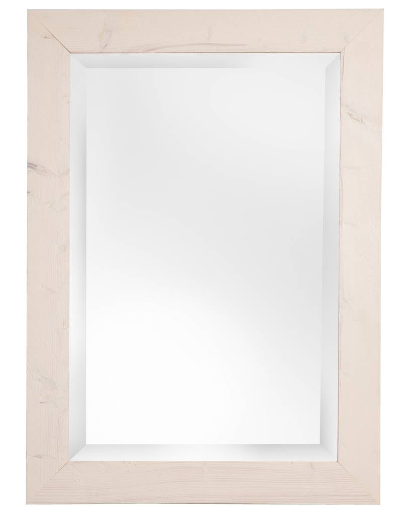 Spiegel mit wei en holzrahmen geschmirgelt - Spiegel mit holzrahmen ...