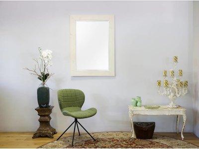 Wood - Spiegel mit weißem Gerüstholzrahmen (geschliffen)