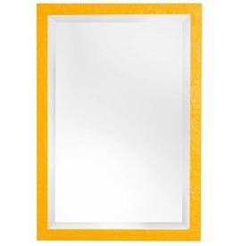 Metz - schöner Spiegel mit gelben Rahmen