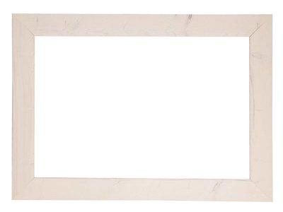 Wood - weißer Gerüstholzrahmen (geschmirgelt)