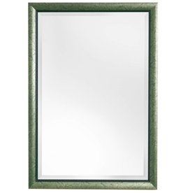 Atessa - Spiegel mit modernem silbergrünem Rahmen