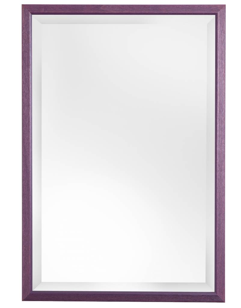 Lille - Spiegel mit schmalem violetten Rahmen