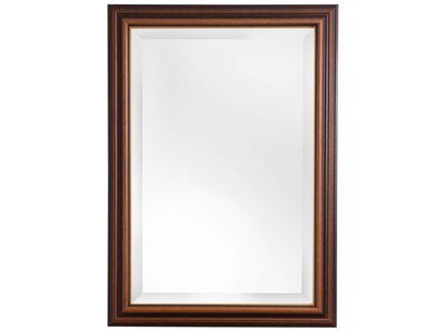 Spiegel mit Holzrahmen mit goldenen Rand