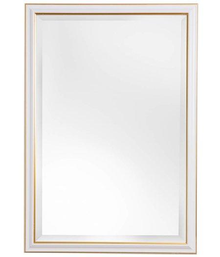 groningen spiegel mit wei em rahmen mit goldenem rand. Black Bedroom Furniture Sets. Home Design Ideas