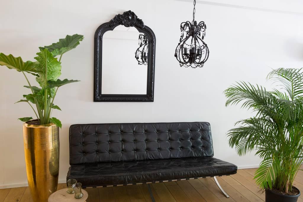 Paris Spiegel mit schwarzem Barock-Rahmen