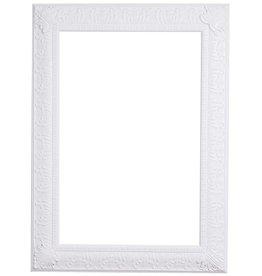 Marbella - weißer Barock-Rahmen