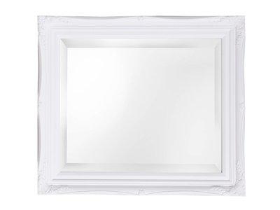 Spiegel mit weißem Rahmen