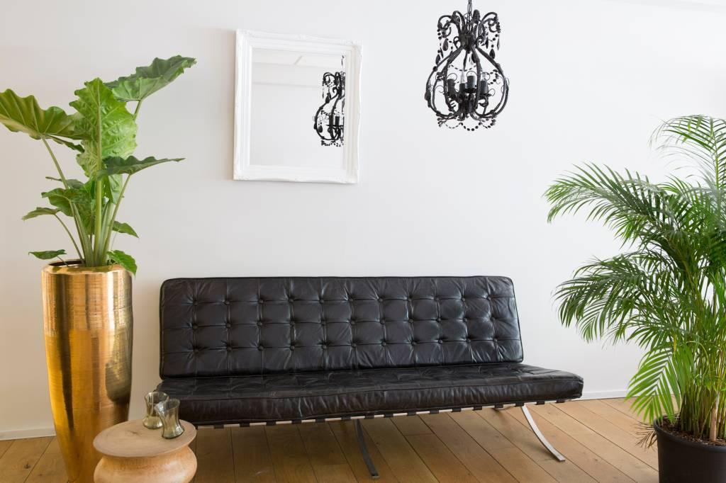 spiegel mit wei em rahmen. Black Bedroom Furniture Sets. Home Design Ideas