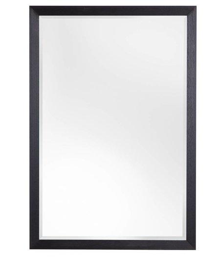 nantes facettenspiegel mit schwarzem holzrahmen. Black Bedroom Furniture Sets. Home Design Ideas