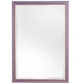 Breda - Spiegel mit fröhlichem violetten und goldenen Rahmen