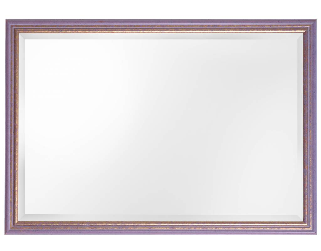 Spiegel mit violetten und goldenen Rahmen