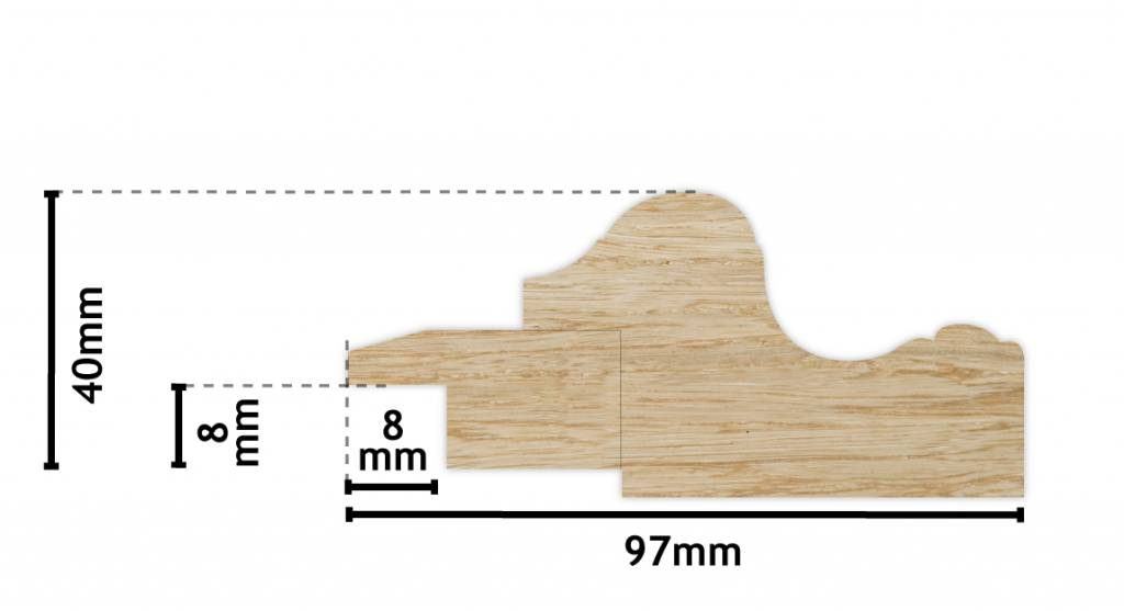 Valencia - schwarzer klassischer Holzrahmen