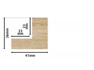 Montopoli - Flacher Schattenfugenrahmen aus Holz