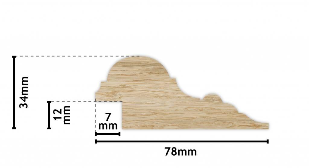 Stockholm - klassischer Holzrahmen mit schmalem goldenem Rand
