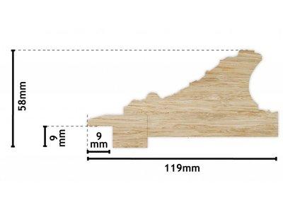 Turin weißer Barock-Rahmen aus Holz