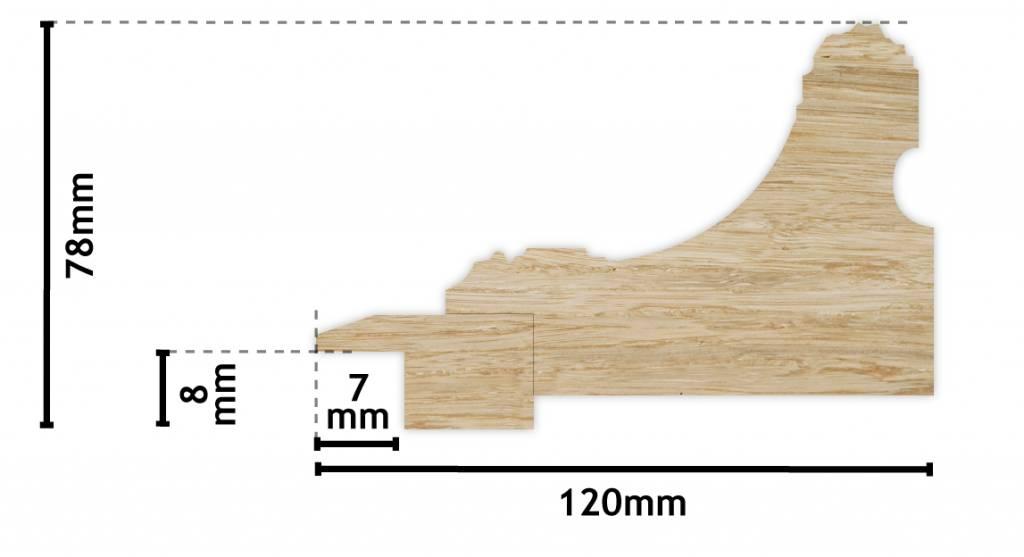 Bari - einzigartiger Holzrahmen in Offwhite