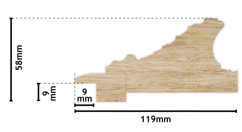 Turin - Silberner Barock-Holzrahmen