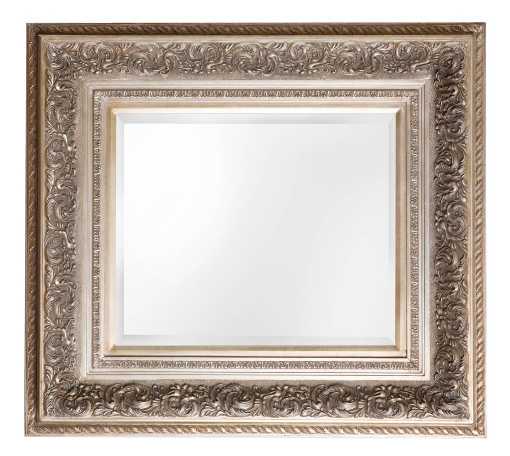sassari barockspiegel mit silbernem rahmen. Black Bedroom Furniture Sets. Home Design Ideas