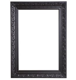 Savona - schwarzer Barock-Rahmen mit Ornament