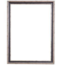 Varzi - silberner Rahmen mit dunkelblauem Rand