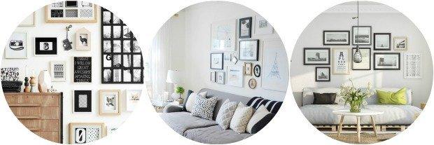 eine wand voller bilderrahmen. Black Bedroom Furniture Sets. Home Design Ideas