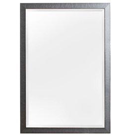 Hamburg - moderner Design-Spiegel mit grauem und silbernem Rahmen (glänzend)