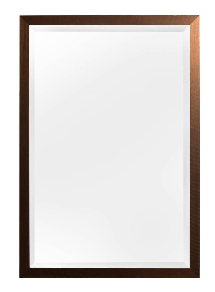 Spiegel mit gebürstetem bronzenen Rahmen