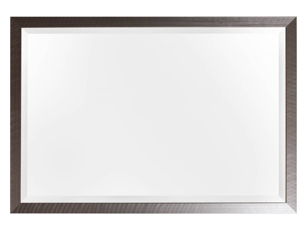 Mariotto-Spiegel, gebürsteter Rahmen, Edelstahlfarbe