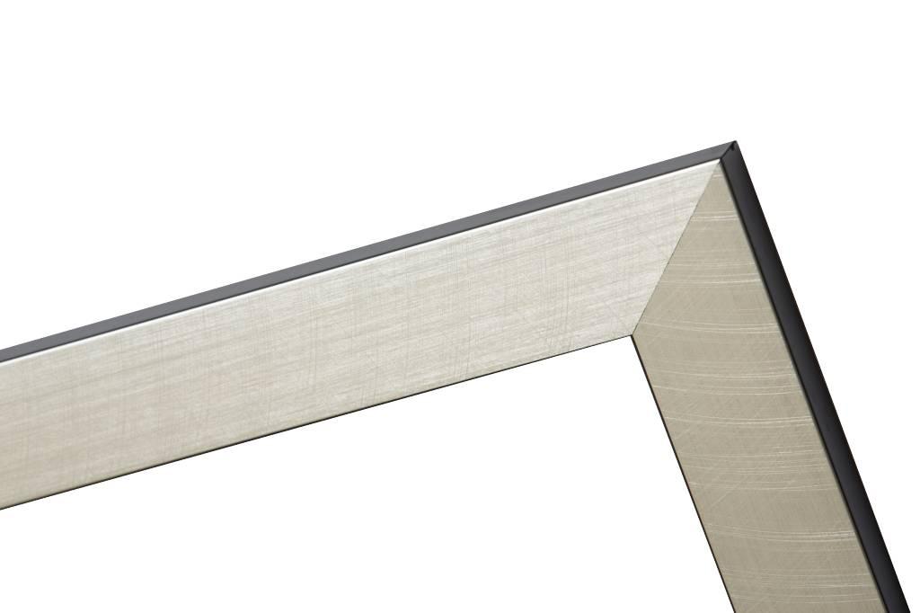 Mariotto - gebürsteter silberner Rahmen mit schwarzem Seitenrand