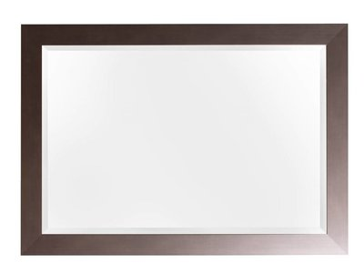 Spiegel mit Rahmen in Edelstahlfarbe