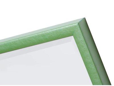 Perugia - Spiegel mit metallic-grünem Rahmen