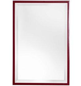 Levie - Spiegel mit schmalem roten Rahmen