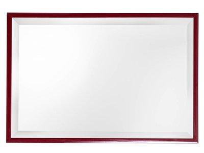 Levie erschwinglicher Spiegel mit schmalem roten Rahmen