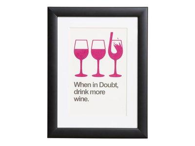 Drink more Wine - Plakat