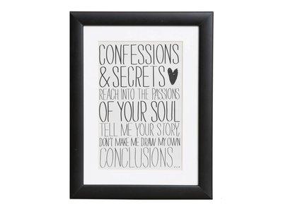 Confessions & Secrets - Plakat