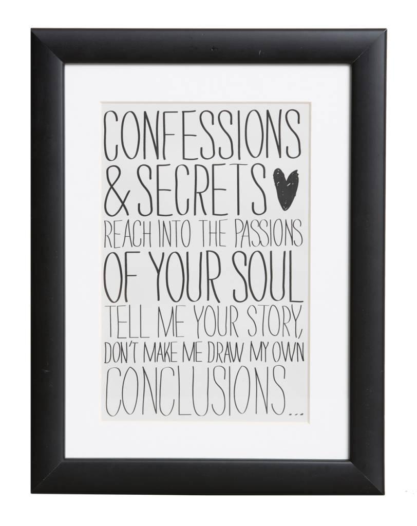 Confessions & Secrets - Plakat - | KunstSpiegel.de