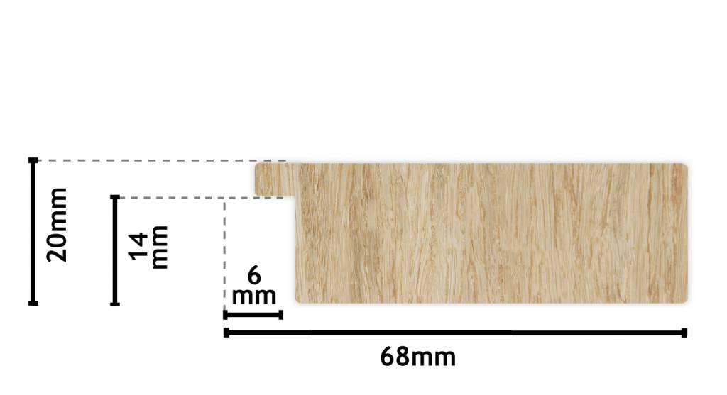 Bettola breiter moderner Rahmen in Edelstahlfarbe