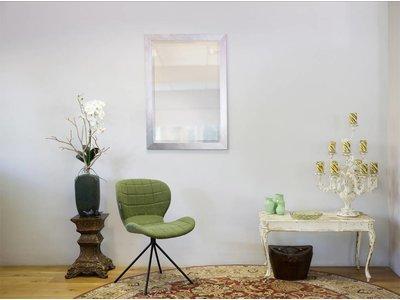 Ormea - Spiegel mit modernem Rahmen (sieht aus wie Edelstahl)